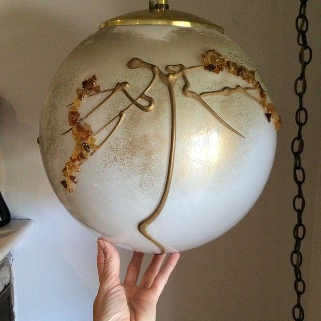 Mid-Century Globe Swag Lamp - Image 9 of 11