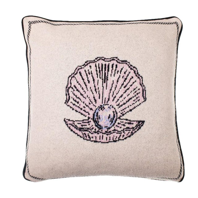 Fee Greening - Pearl Cashmere Pillow For Sale