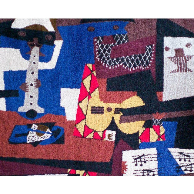 1990s After Pablo Picasso Wool Carpet for Desk Studio For Sale - Image 5 of 5