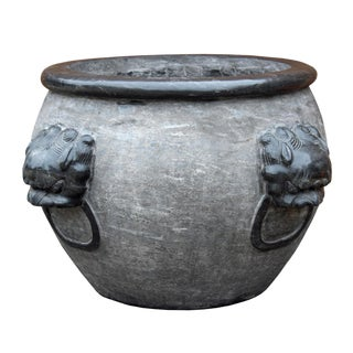 Chinese Gray Stone Planter For Sale