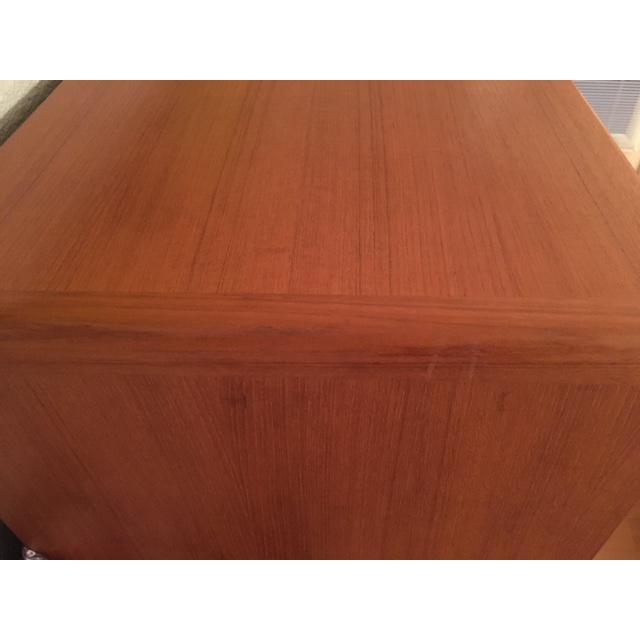 Contemporary 1980s Mid-Century Modern Scan Design Teak Gentlemen's Dresser For Sale - Image 3 of 6