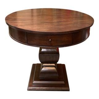 Ballard Designs Doran Side Table Walnut Stain For Sale
