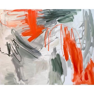 """""""Krakatoa"""" by Trixie Pitts XL Diptych Abstract Expressionist Oil Painting Preview"""