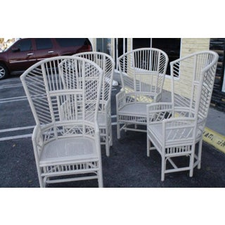 Brighton Pavilion Rattan Chinese Chippendale Chairs - Set of 4 Preview