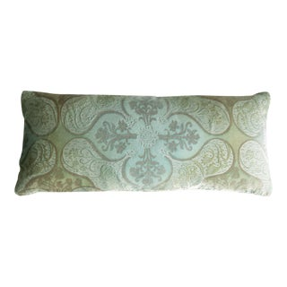 Ice Persian Velvet Lumbar Pillow