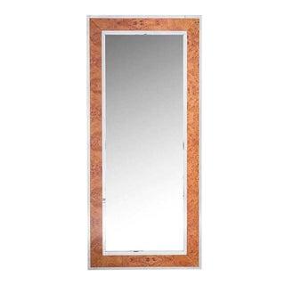 Williams Sonoma Chrome Burl Wood Mirror