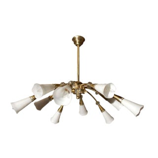 French Ten Light Chandelier For Sale