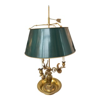 Green Shaded Bouillotte Lamp