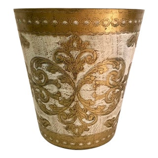 20th Century Italian Florentine Waste Basket For Sale