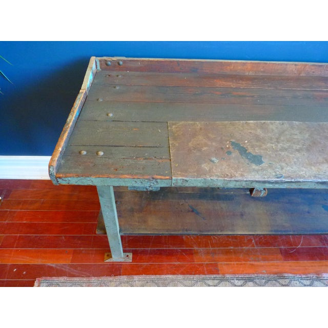 Industrial, Old Welders Workbench For Sale - Image 4 of 13