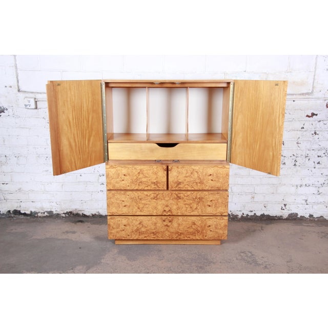 Mid-Century Modern Burl Wood Gentleman's Chest by Lane For Sale In South Bend - Image 6 of 13