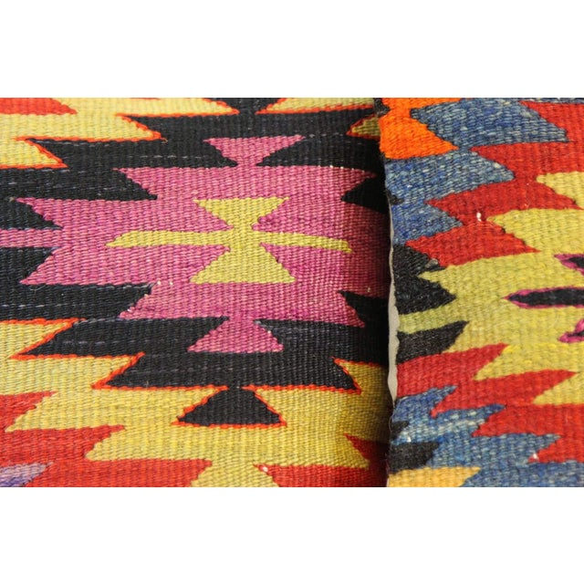 Kilim Pillow Covers - A Pair - Image 3 of 5