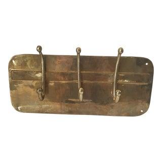 Mid-Century Brass Coat Rack