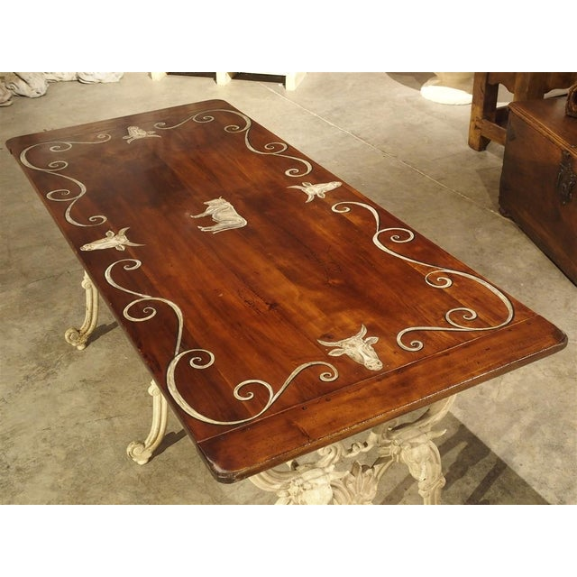 Antique French Wood and Iron Butchers Table, Late 19th Century For Sale In Dallas - Image 6 of 13