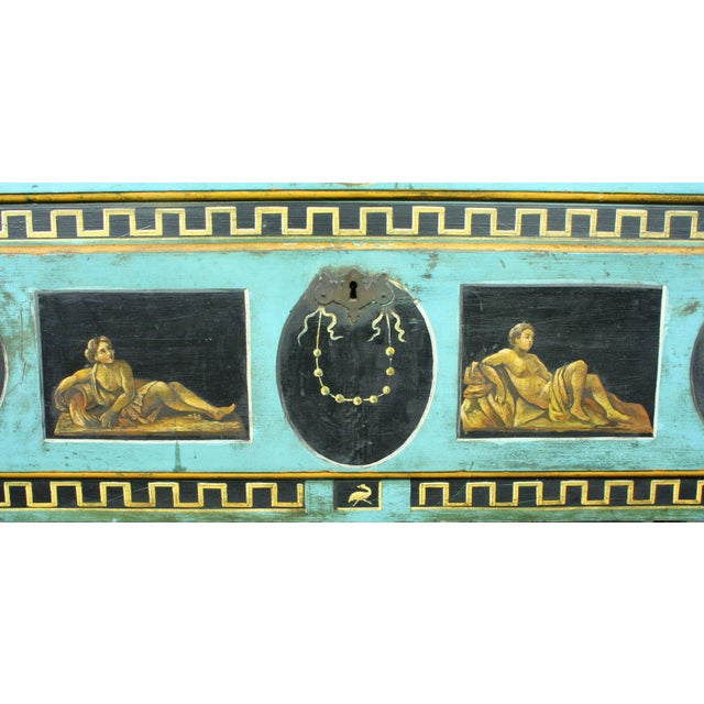 Italian Late 19th Century Italian Neoclassical Hand-Painted and Decorated Two Drawer Chest For Sale - Image 3 of 7