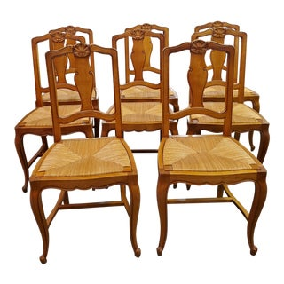 Early 20th Century French Provincial Dining Chairs - Set of 8 For Sale