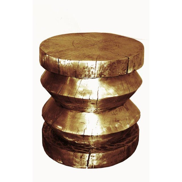 Cast Aluminum Stool or End Table For Sale In New York - Image 6 of 6