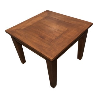 Vintage Mission Walnut Wooden Side Table For Sale