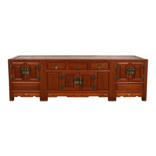 Vintage Chinese Rosewood Bed Foot Chest/Coffee Table For Sale