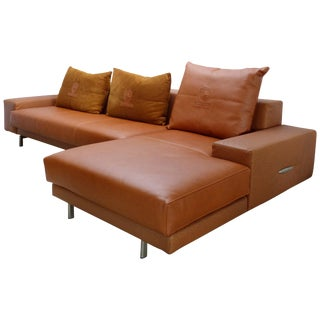 Casa Tonino Lamborghini Pilot Collection Sofa in Leather, Ostrich and Suede For Sale