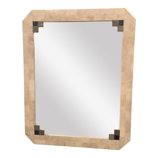 Mid-Century Tessellated Stone Mirror For Sale