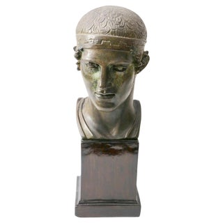 """Charioteer of Delphi"" Terracotta Sculpture C. 1930s For Sale"
