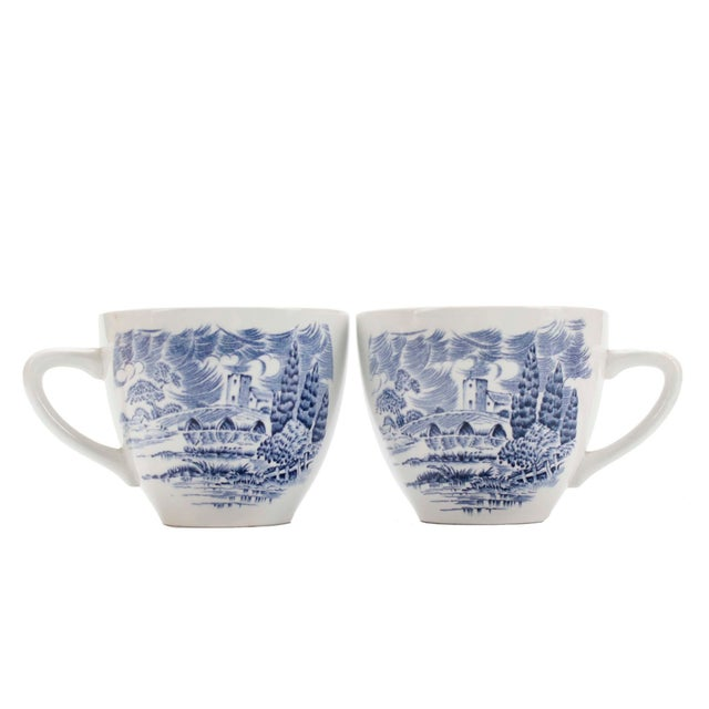 Set of 8 cups and saucers by Wedgewood Company Ltd. England with embossing and makers marks on bottoms which makes these...