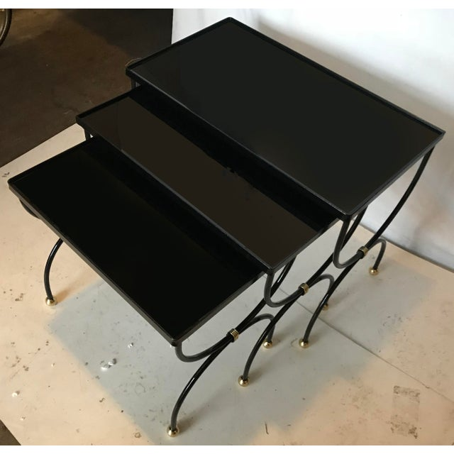 Vintage Set of 3 Nesting tables For Sale - Image 5 of 5