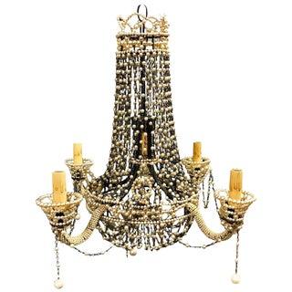 Venetian Style Pearl Beaded Four-Arm Chandelier