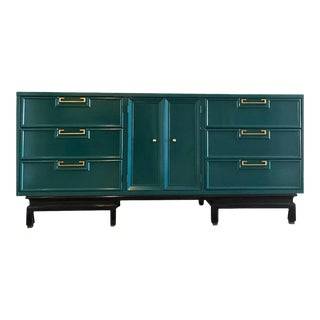 Vintage American of Martinsville Lacquered Dresser / Credenza For Sale