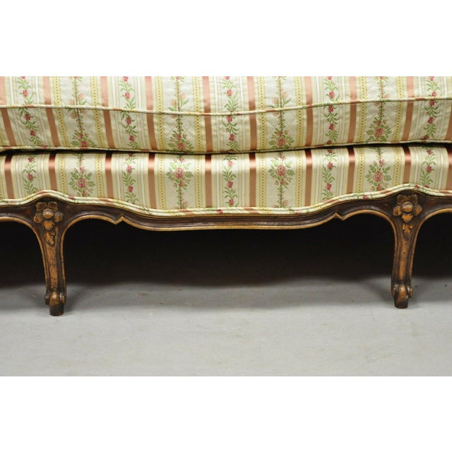 Early 20th C. Vintage French Louis XV Provincial Style Sofa For Sale - Image 11 of 12
