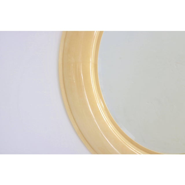 Art Deco Revival Goatskin Lacquered Console & Mirror by Lucien Rollin for William Switzer For Sale In West Palm - Image 6 of 11