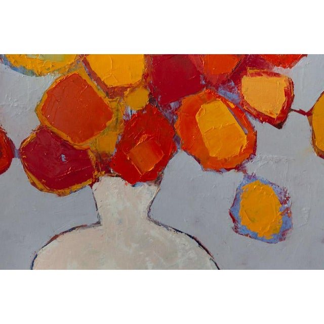 """2020s Bill Tansey """"White Vase"""" Abstract Floral Oil Painting on Canvas For Sale - Image 5 of 7"""