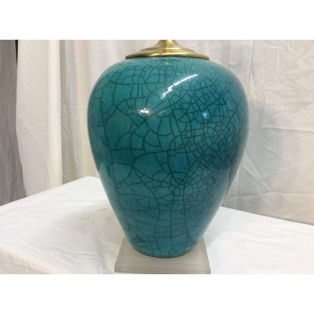 Mid-Century Modern Teal Table Lamp - Image 6 of 6