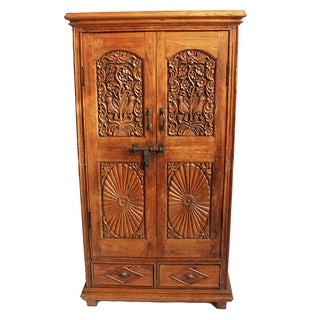 Antique Indian Colonial Armoire For Sale