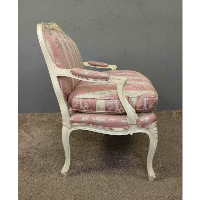 Louis XV Style Settee With Painted Finish - Image 4 of 11