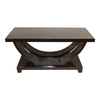Art Deco 1930s Cocktail Coffee Table Ebonized Modernage by Brown Saltman For Sale
