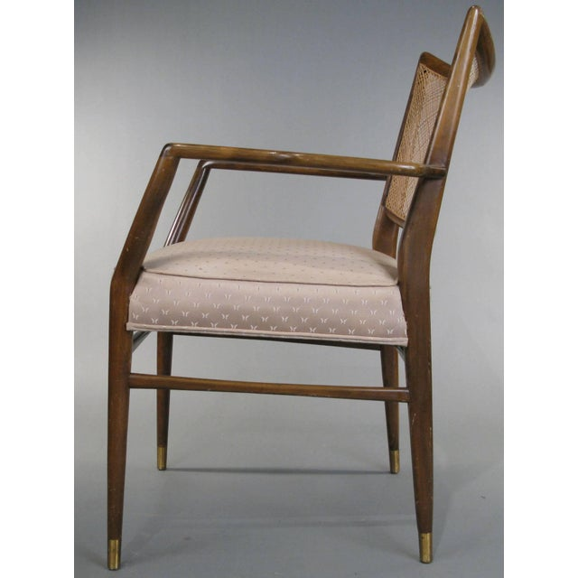Mid-Century Modern 1950s Stylish Mid Century Walnut and Cane Armchairs - a Pair For Sale - Image 3 of 7