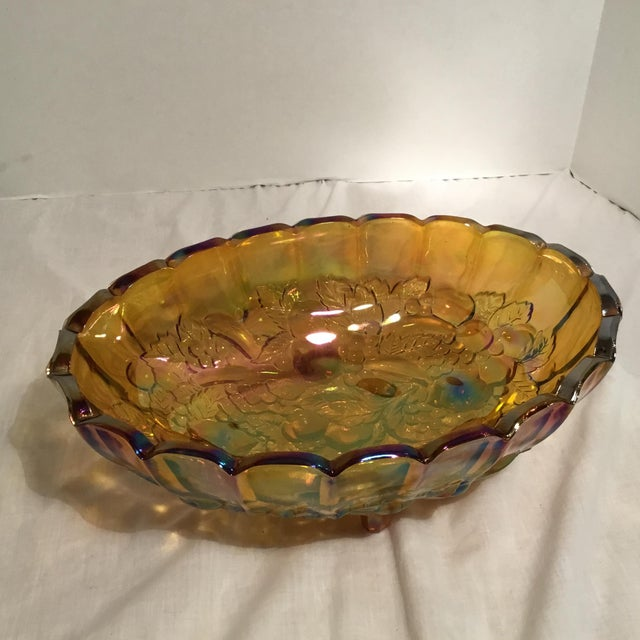 Carnival Glass Serving Bowl - Image 10 of 11
