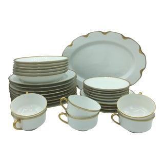 Haviland France Porcelain Dinnerware Set - 31 Pieces For Sale