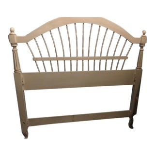 Ethan Allen French White Swedish Full Size Wood Bedframe For Sale