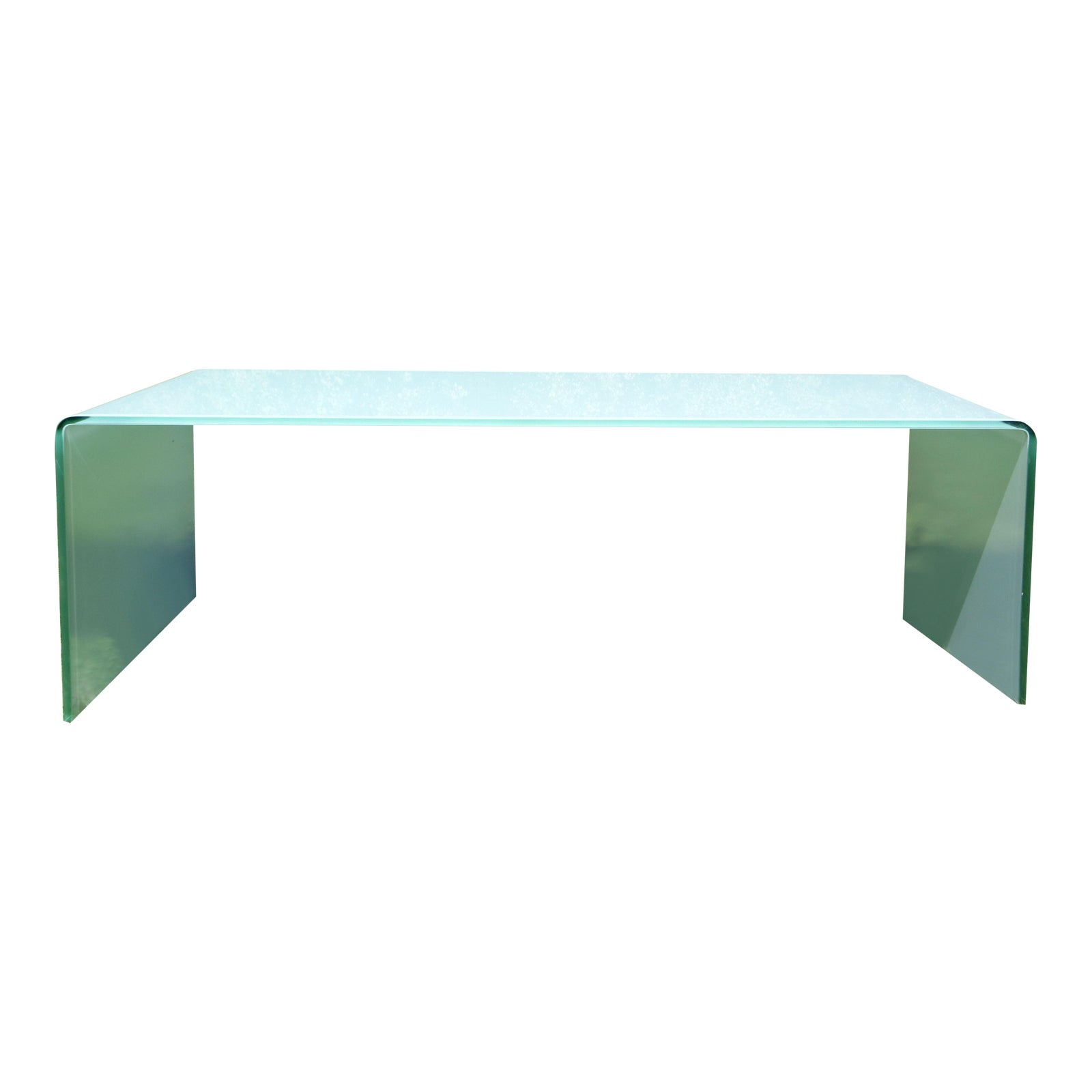 Aqua Miniforms Curvo Waterfall Bent Glass Coffee Table Bardini Italy