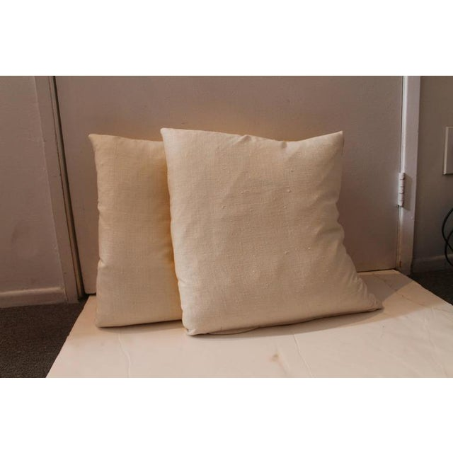 Pair of Golden Yellow Velvet Pillows For Sale In Los Angeles - Image 6 of 8
