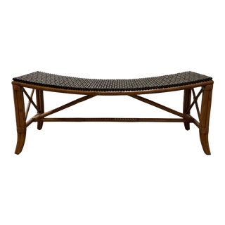 Palecek Sling Bamboo Bench For Sale