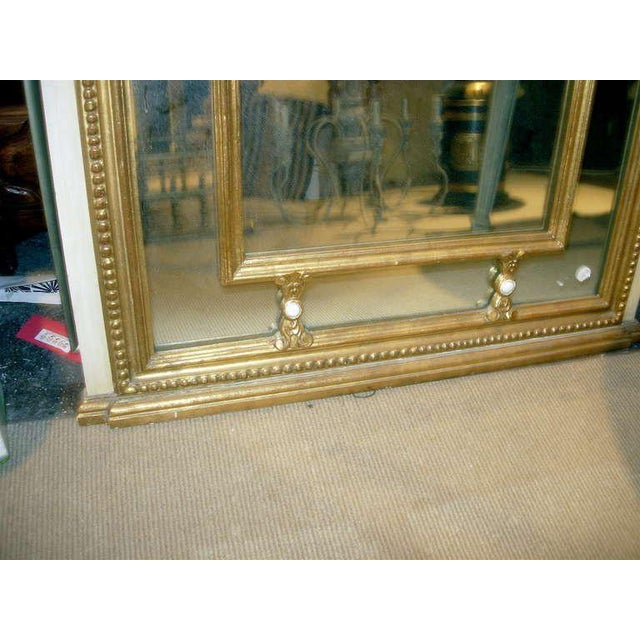 Regency Style Mirror With Painted and Giltwood Decoration For Sale - Image 4 of 5