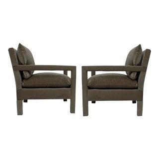 1970s Vintage Milo Baughman Parsons Chairs - a Pair For Sale