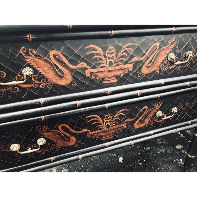 1990s 1990s Chinoiserie Side Chests - a Pair For Sale - Image 5 of 12
