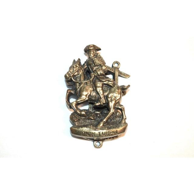 """Bronze Highwayman """"Dick Turpin"""" Door Knocker For Sale - Image 8 of 9"""