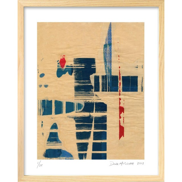 Modern 'Red Meets Blue #8' Print - Image 1 of 4
