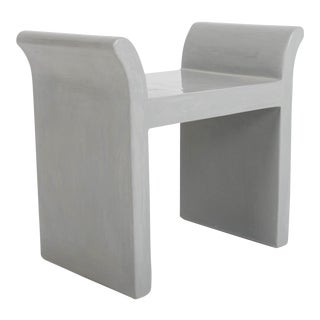 Vanity Seat - Grey Lacquer For Sale